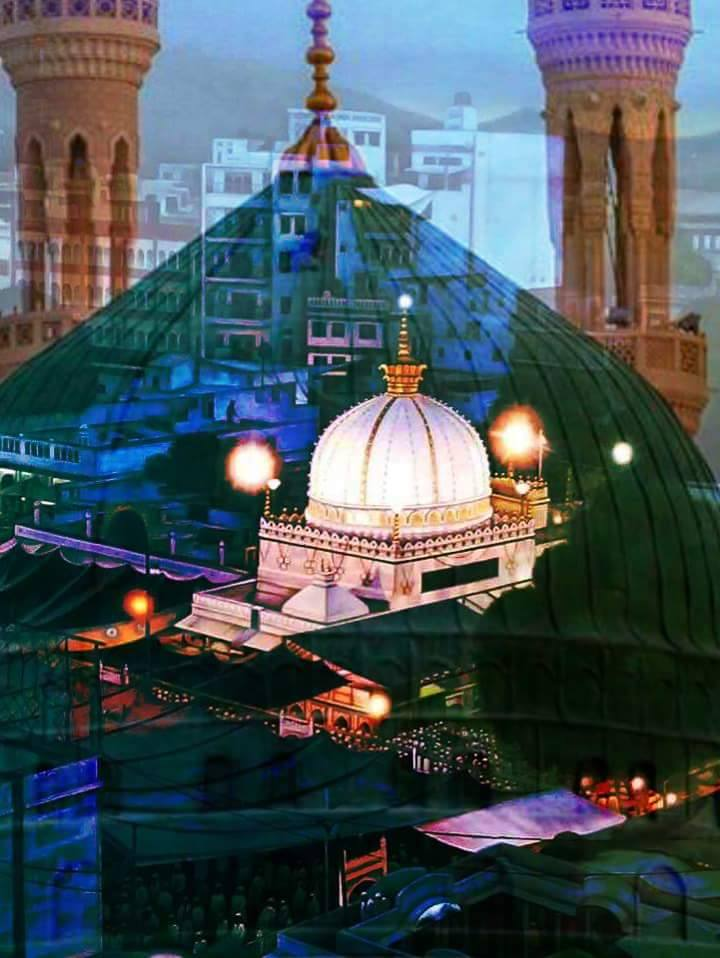 Transparent Madina Sharif Dome showing Ajmer Sharif Dome ...Subhan-Allah!!